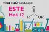 Tính chất hoá học của Este, bài tập về Este - hoá 12 bài 1